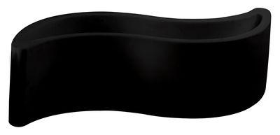 Jardinière Wave / Banc - L 160 cm - Plastique - Slide noir en matière plastique