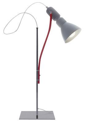 Luminaire - Lampes de table - Lampe de table Brazil - Danese Light - Blanc, rouge et gris - Aluminium peint, Métal peint