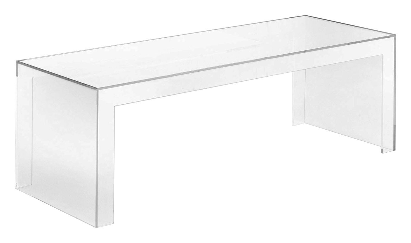 Furniture - Coffee Tables - Invisibles Side Low console - L 120 x H 40 cm by Kartell - Transparent - Polycarbonate