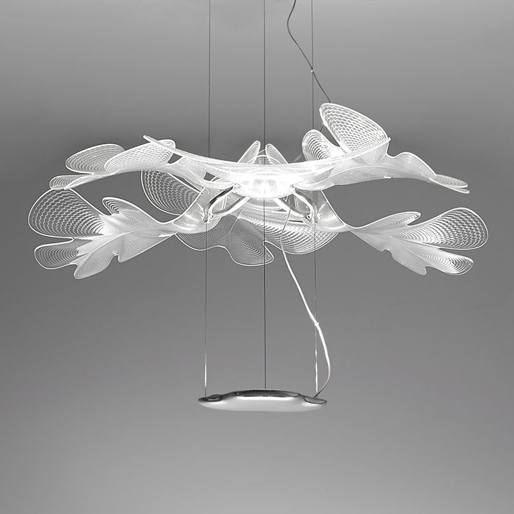 Lighting - Pendant Lighting - Chlorophilia Simple Pendant - LED / Ø 77 cm by Artemide - Transparent - Aluminium, PMMA
