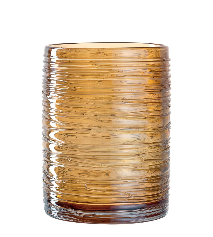 Déco - Bougeoirs, photophores - Photophore Luce / Large - H 16 cm - Leonardo - Doré transparent - Verre