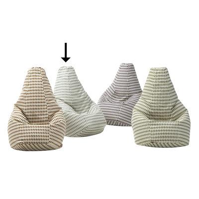 Furniture - Poufs & Floor Cushions - Sacco Tulip Pouf - / Original model from 1968 - L 80 x H 68 cm by Zanotta - Grey - Cotton, Polystyrene balls