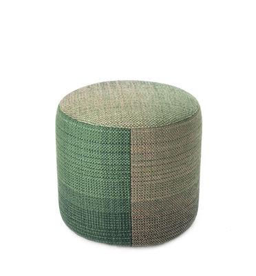 Image of Pouf Shade 3B - / Lana della Nuova Zelanda - Ø 49 cm di Nanimarquina - Verde - Fibre