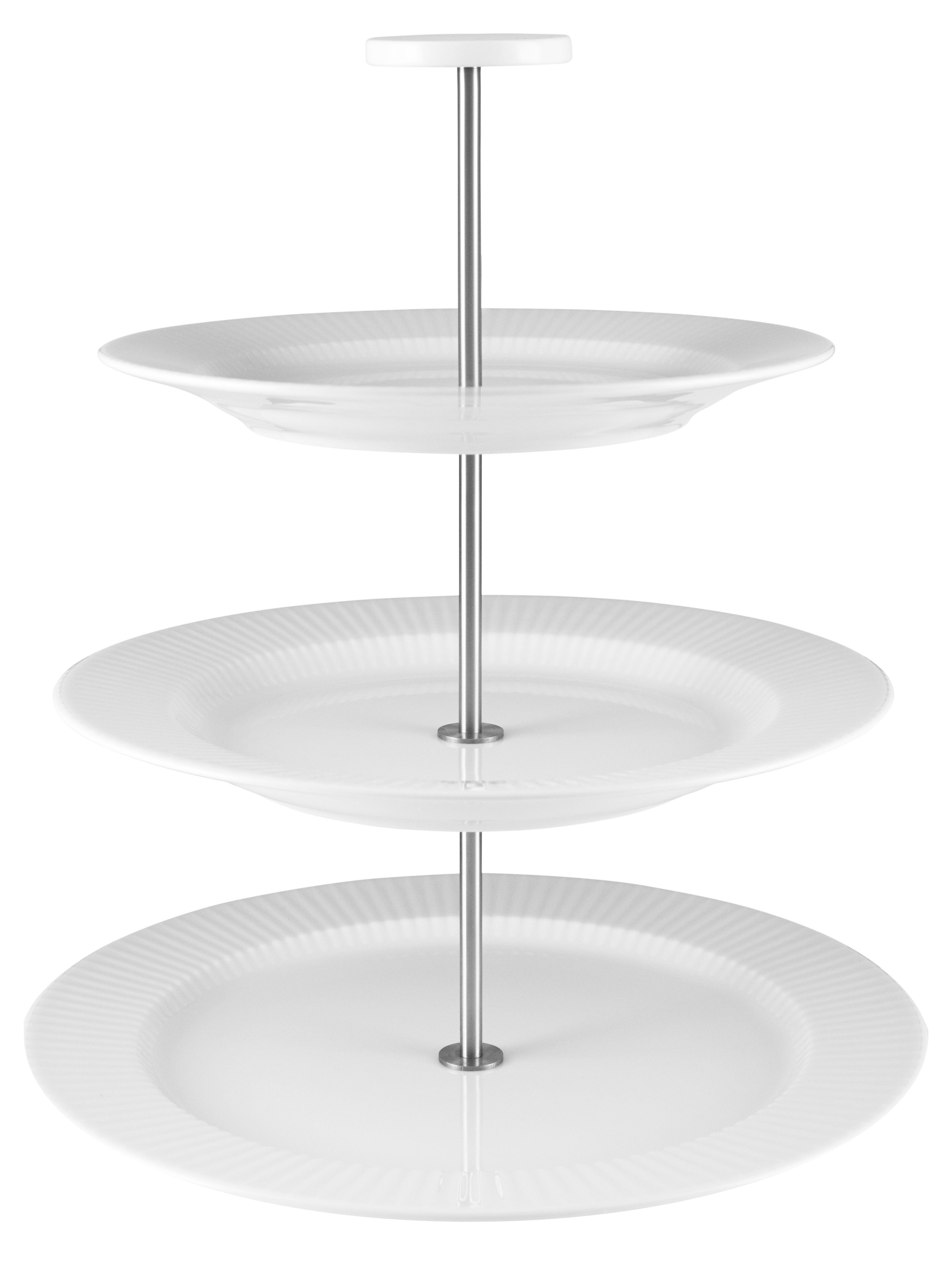 Tableware - Serving Plates - Legio Nova Presentation dish - 3 levels - Porcelain by Eva Trio - White - China, Stainless steel