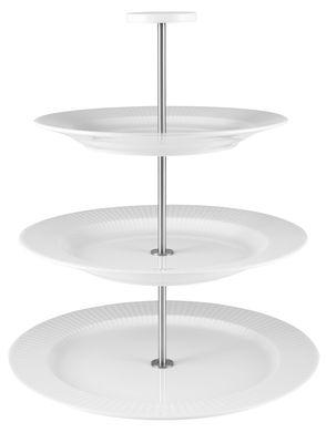 Serviteur Legio Nova / 3 plateaux - Porcelaine - Eva Trio blanc,inox brillant en céramique