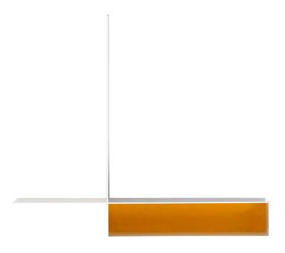 Furniture - Bookcases & Bookshelves - Randomissimo - Module A Shelf - Left - W 55 cm by MDF Italia - Left - Mat white / Yellow - Artificial fiber, Steel plate