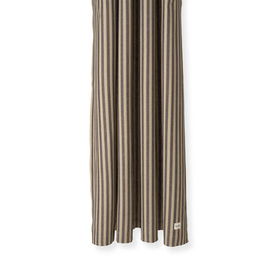 Accessories - Bathroom Accessories - Chambray Striped Shower curtain - / 160 x H 205 cm - Coated cotton by Ferm Living - Striped / Sand & black - Coated cotton