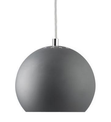 Image of Sospensione Ball Small - / Riedizione del 1969 di Frandsen - Grigio - Metallo