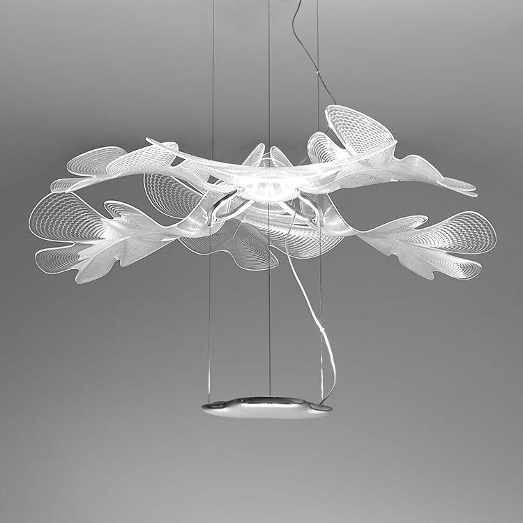 Illuminazione - Lampadari - Sospensione Chlorophilia / LED - Ø 77 cm - Artemide - Trasparente - Alluminio, PMMA