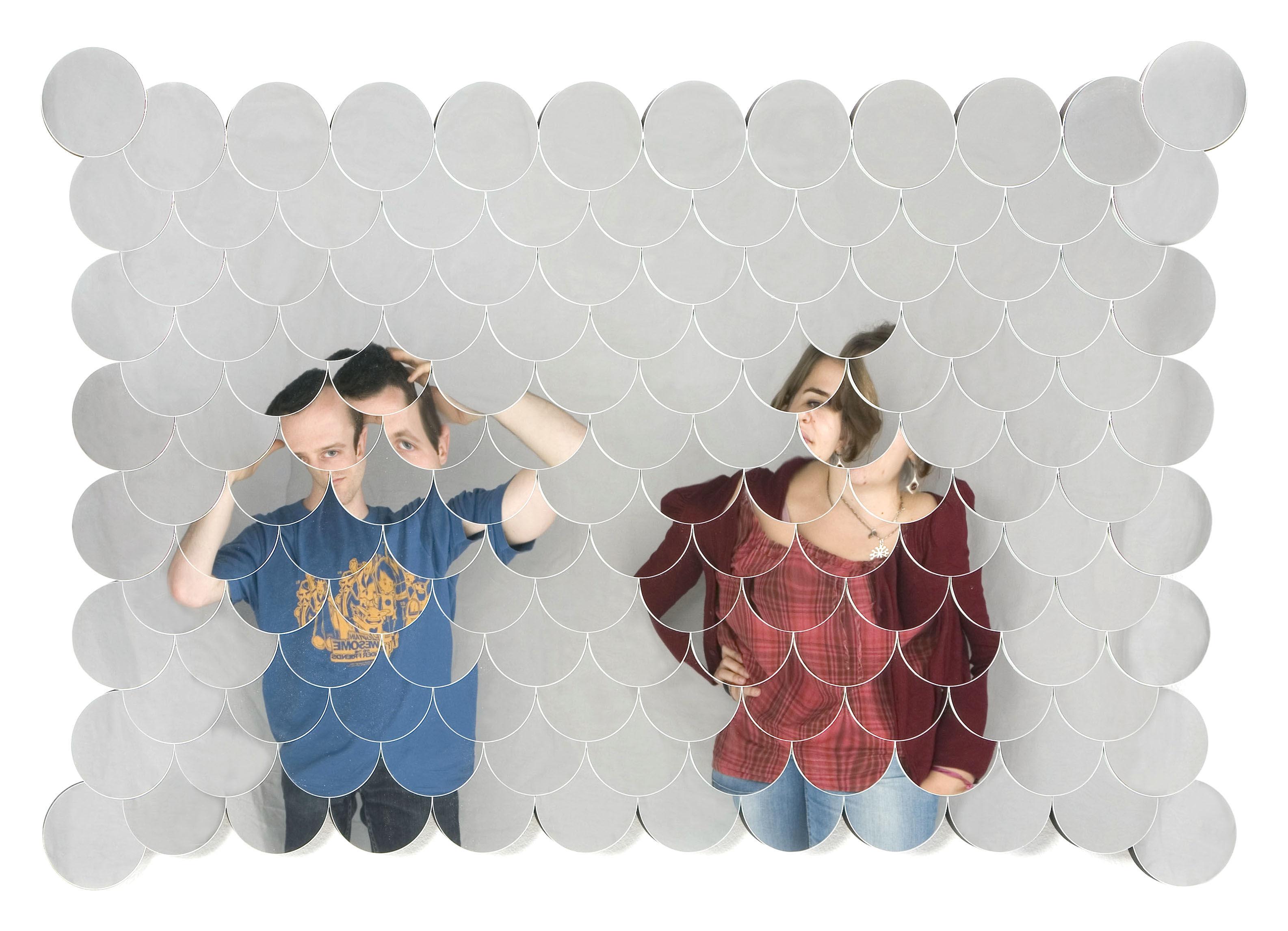 Arredamento - Specchi - Specchio murale Sirène - modello piccolo - L 104 x H 69 cm di Tsé-Tsé - Specchio piccolo - 104 x 69 cm - Vetro