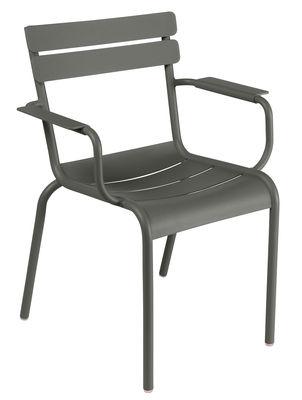 Luxembourg Stapelbarer Sessel / Metall - Fermob - Rosmarin