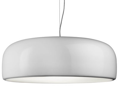 Suspension Smithfield Pro / LED - Ø 60 cm / Aluminium - Flos blanc en métal
