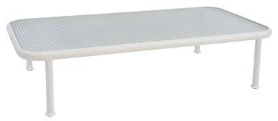 Table basse Dock / 130 x 71 cm - Verre armé - Emu blanc,translucide en métal