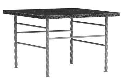 Table basse Terra Large / 55 x 55 x H 36 cm - Terrazzo - Normann Copenhagen gris en pierre