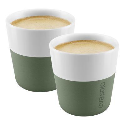Arts de la table - Tasses et mugs - Tasse à espresso / Set de 2 - 80 ml - Eva Solo - Vert cactus - Porcelaine, Silicone