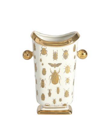Déco - Vases - Vase Botanist Specimen / Insectes - Jonathan Adler - Insectes / Blanc & or - Or fin, Porcelaine