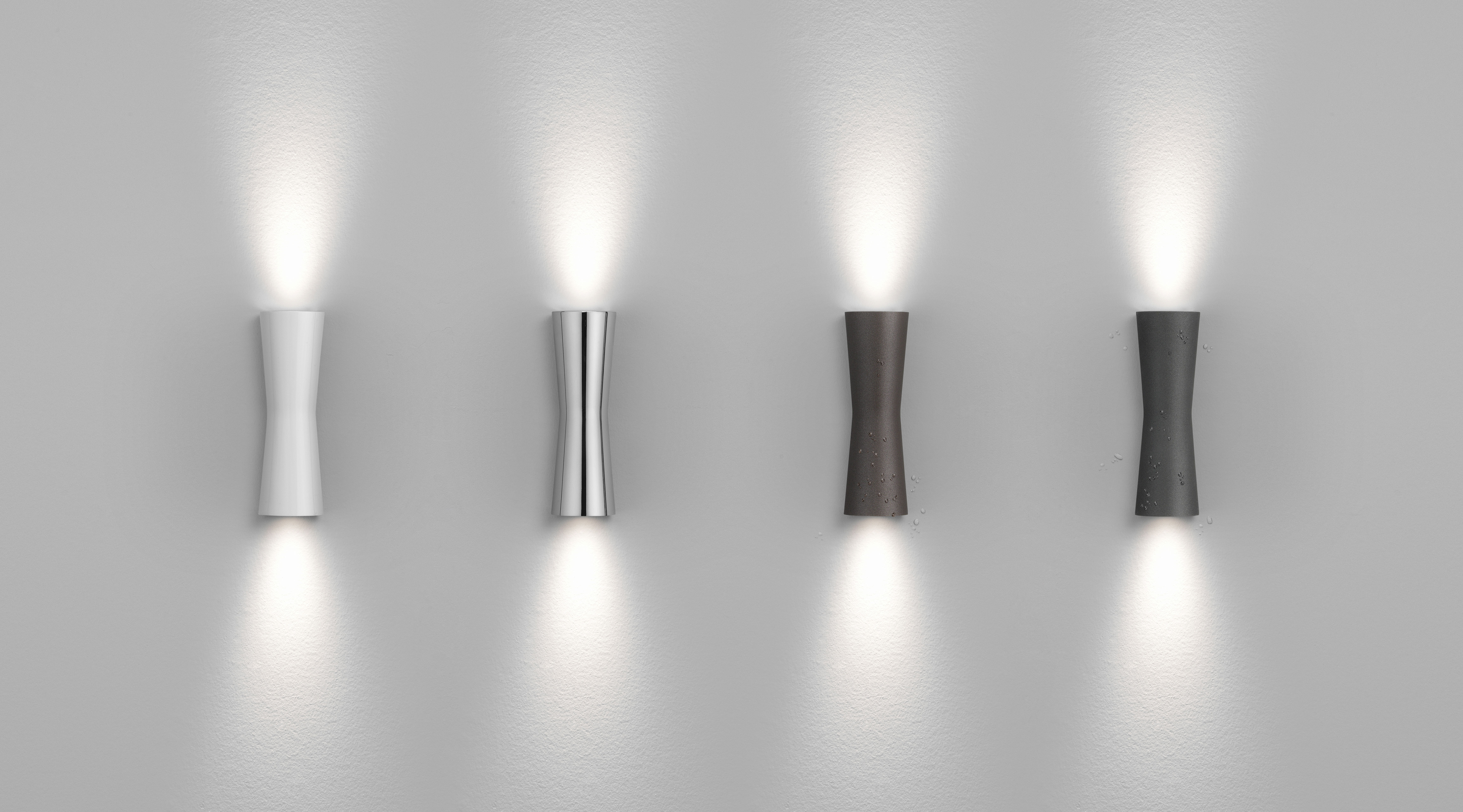 Clessidra ° applique led interno cromato by flos made in