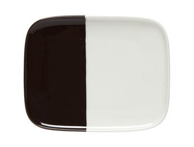 Assiette à dessert Puolikas / 12 x 15 cm - Marimekko blanc,noir en céramique