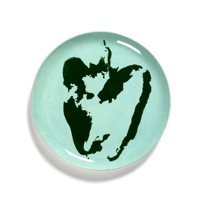 Arts de la table - Assiettes - Assiette Feast Large / Ø 26,5 cm - Serax - Poivron / Turquoise & vert - Grès émaillé