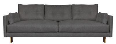 Mobilier - Canapés - Canapé droit Malibu / L 213 cm - Jonathan Adler - Gris charbon - Laiton, Tissu
