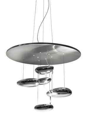 Lighting - Ceiling Lights - Mercury mini Ceiling light - LED by Artemide - Metal grey & mirror - Aluminium, Stainless steel