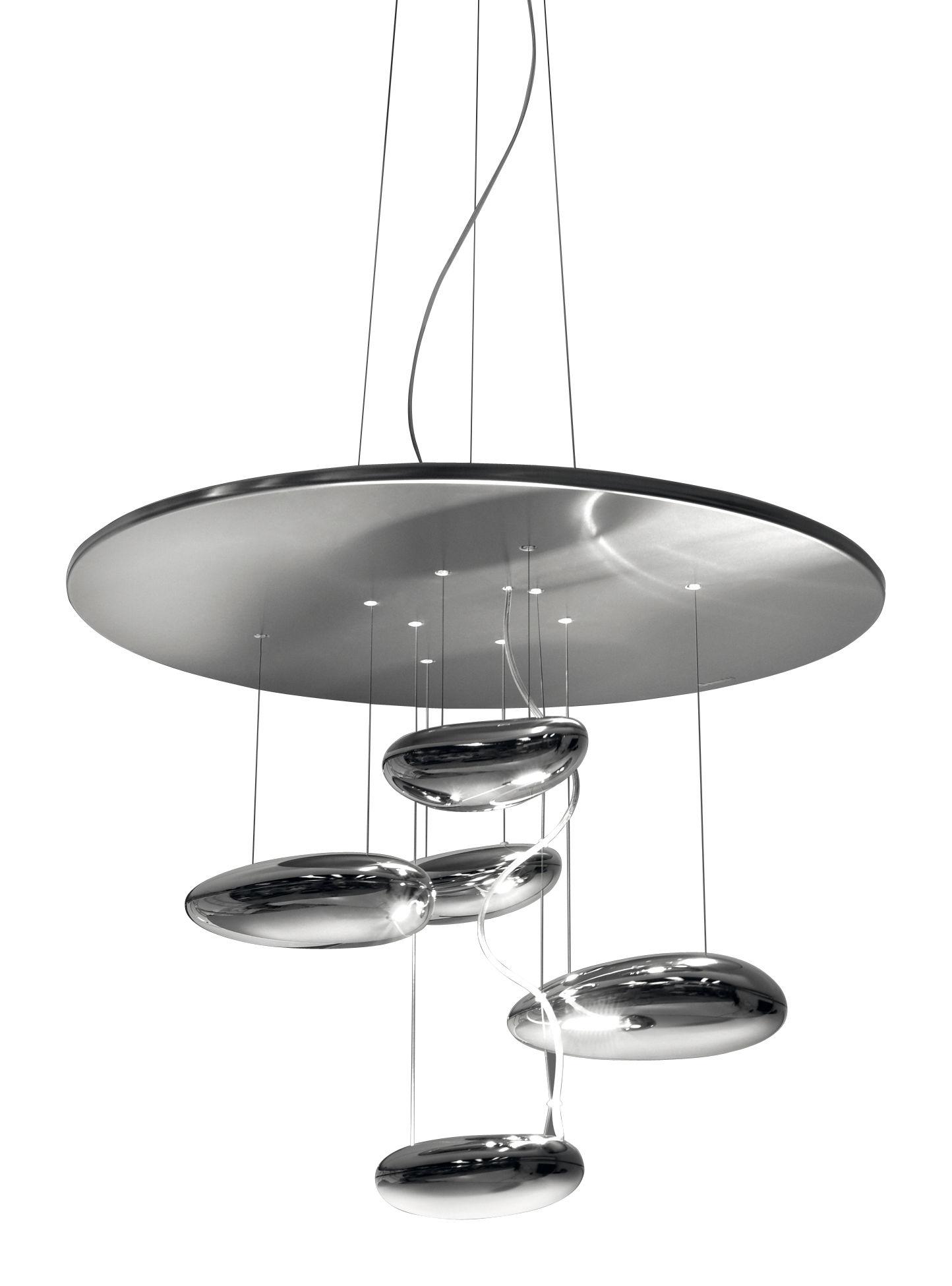 Lighting - Ceiling Lights - Mercury mini Ceiling light - LED by Artemide - Metal grey & mirror - Aluminium, Stainless steel