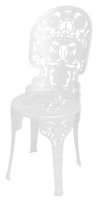 Chaise Industry Garden Seletti blanc en métal