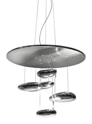Leuchten - Deckenleuchten - Mercury mini Deckenleuchte LED - Artemide - Metallgrau / verspiegelt - Aluminium, rostfreier Stahl