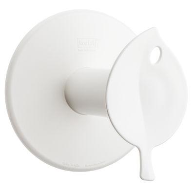 Accessoires - Accessoires salle de bains - Dérouleur de papier toilette Sense / à ventouse - Koziol - Blanc opaque - Plastique