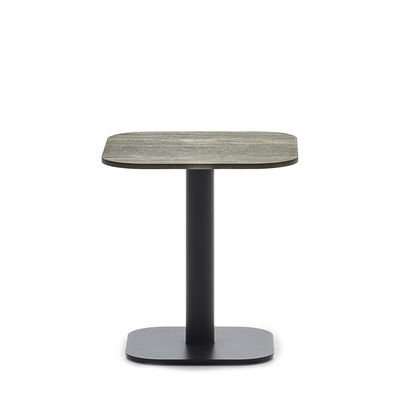 Furniture - Coffee Tables - Kodo End table - / 41 x 41 cm - Ceramic by Vincent Sheppard - Beige ceramic / Fossil grey - Ceramic, Thermolacquered aluminium