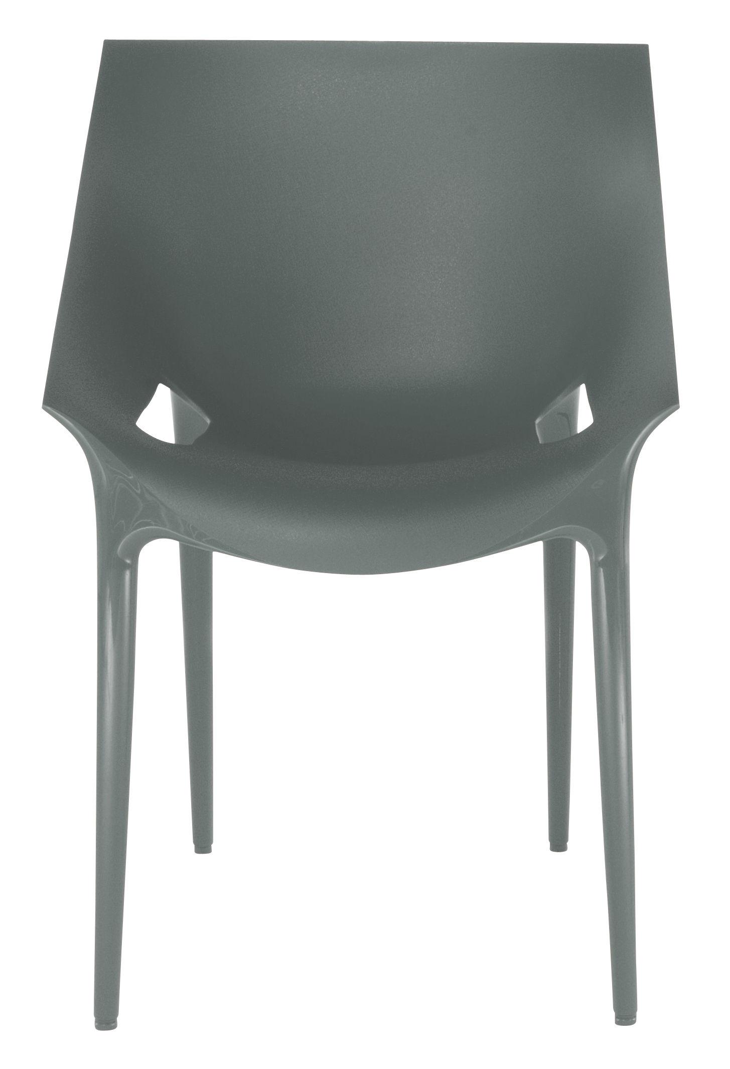 Mobilier - Chaises, fauteuils de salle à manger - Fauteuil empilable Dr. YES / Polypropylène - Kartell - Gris - Polypropylène
