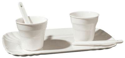 Tischkultur - Tassen und Becher - Estetico Quotidiano Kaffeservice / für 2 Personen - Seletti - Für 2 Personen / weiß - Porzellan