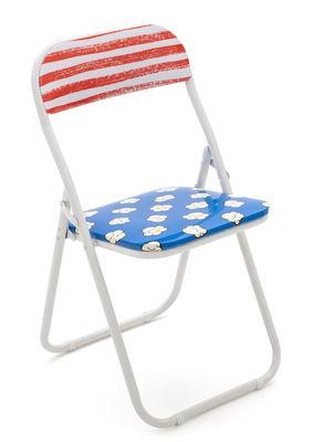 Möbel - Stühle  - Pop corn Klappstuhl / Gepolstert - Seletti - Pop corn - lackiertes Metall, PVC, Schaumstoff