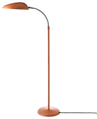 Illuminazione - Lampade da terra - Lampada a stelo Cobra - / Riedizione 1949 di Gubi - Rosa antico - Acciaio termolaccato