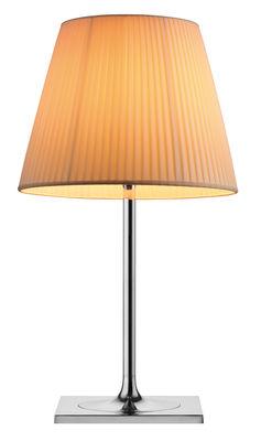 Illuminazione - Lampade da tavolo - Lampada da tavolo K Tribe T2 Soft di Flos - Tessuto plissettato - Alluminio lucido, Tessuto
