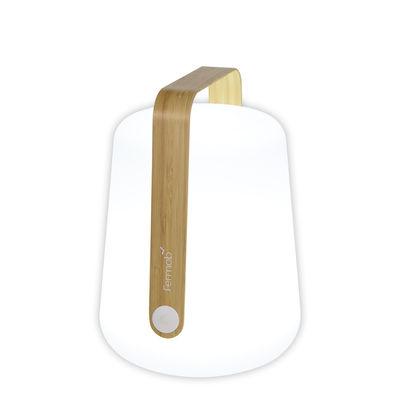 Illuminazione - Lampade da tavolo - Lampada senza fili Balad Bamboo - / H 25 cm - Ricarica USB di Fermob - Bambù - Bambù, Polietilene