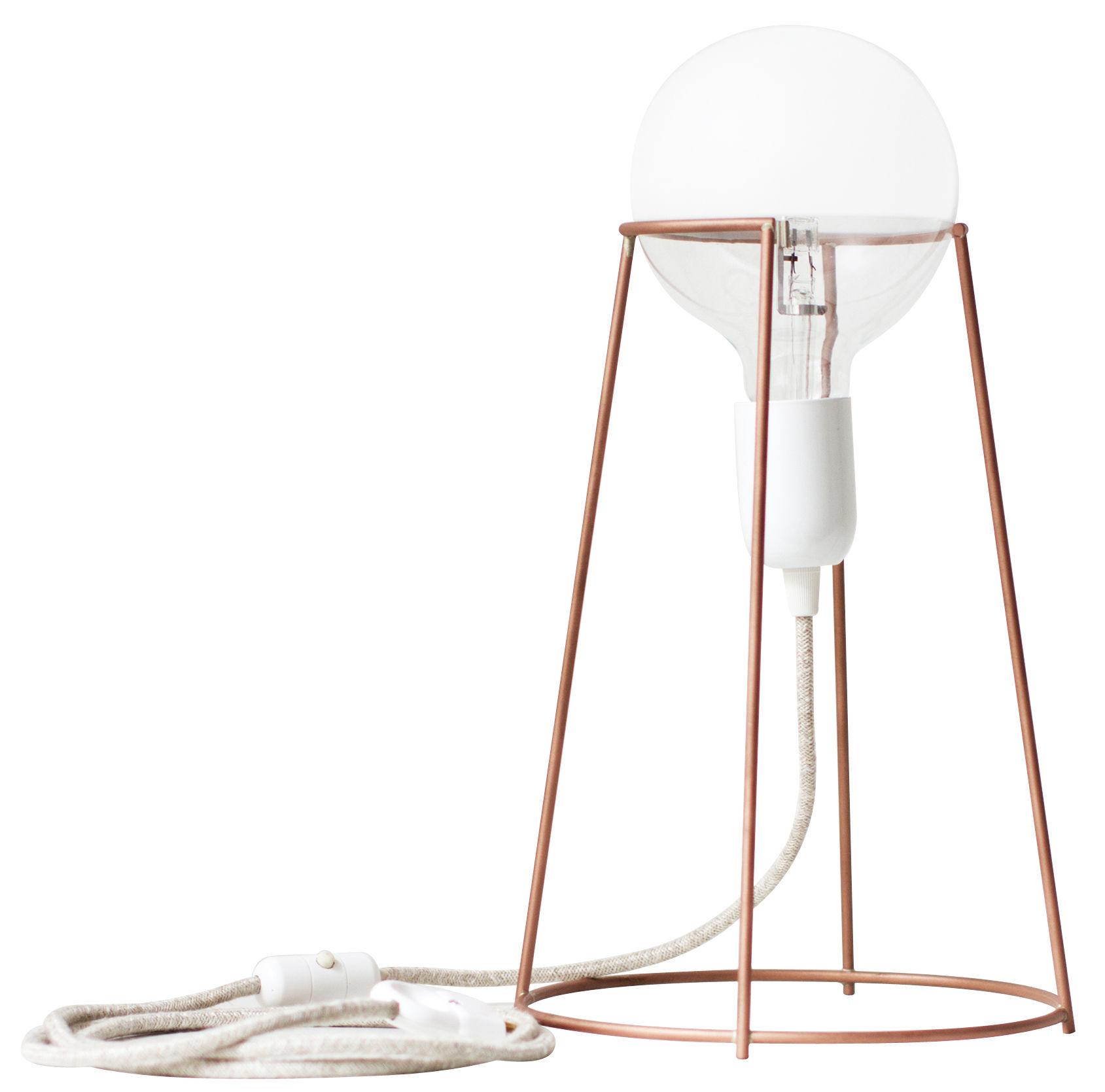 Luminaire - Lampes de table - Lampe de table Agraffé / H 37 cm - ENOstudio - Cuivre - Acier finition cuivre, Verre