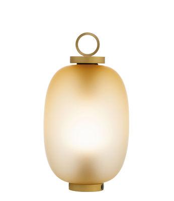 Lucerna  LED Lampe ohne Kabel / Glas - Ethimo - Messing,Ambre acidé