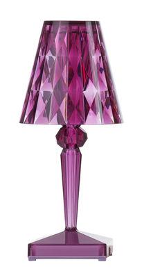 Luminaire - Lampes de table - Lampe sans fil Battery LED / H 22 cm - Recharge USB - Kartell - Prune - PMMA
