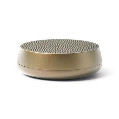 Accessoires - Enceintes audio & son - Mini enceinte Bluetooth Mino L - 5W / Sans fil - Amplificateur de basses - Lexon - Or mat - ABS, Aluminium