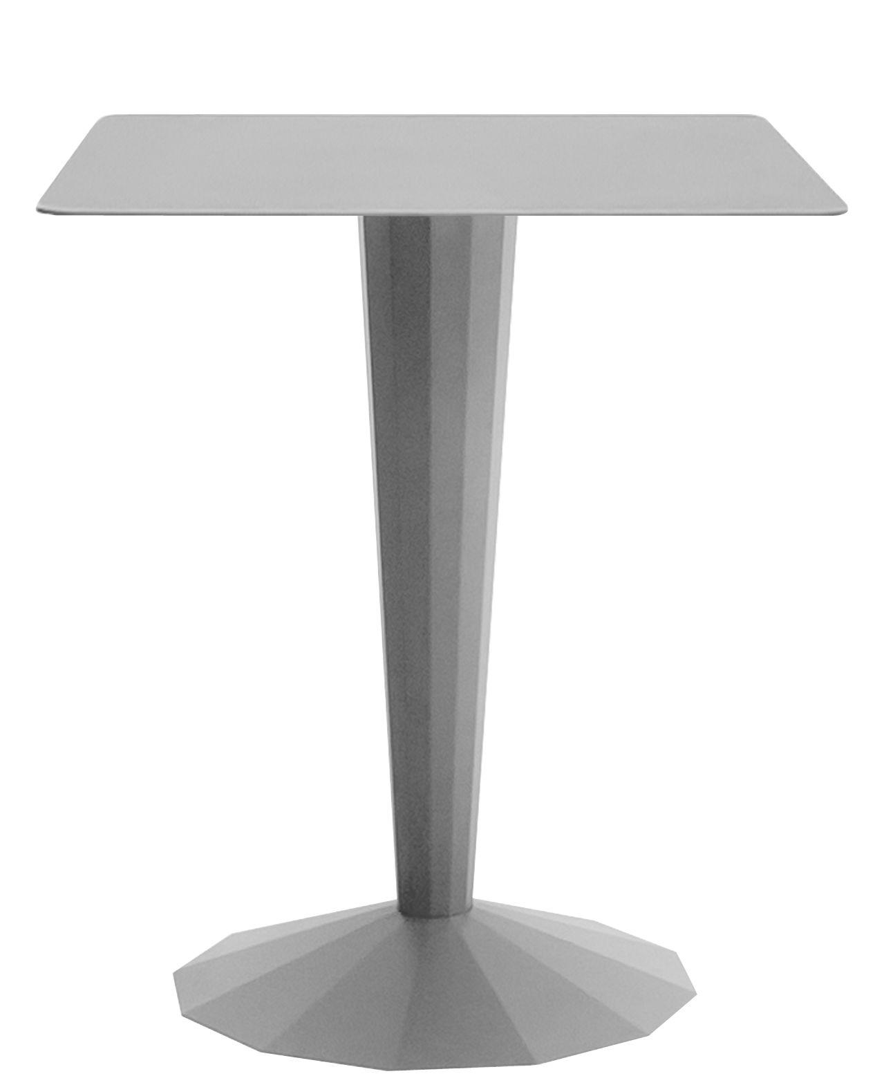 Möbel - Tische - Ankara S quadratischer Tisch / 70 x 70 cm - Matière Grise - Aluminium-grau - Stahl