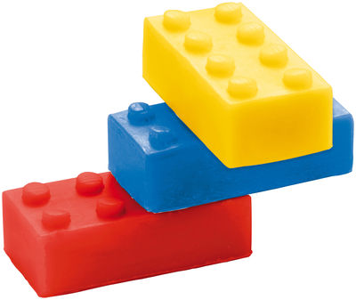 Decoration - Children's Home Accessories - Bob Soap - Stackable - Set of 3 by Donkey - Red,Blue,Yellow - Soap