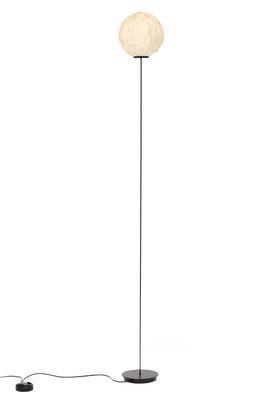 Light Light Stehleuchte / Washi-Papier - H 185 cm - Established & Sons - Schwarz,Gebrochen weiß