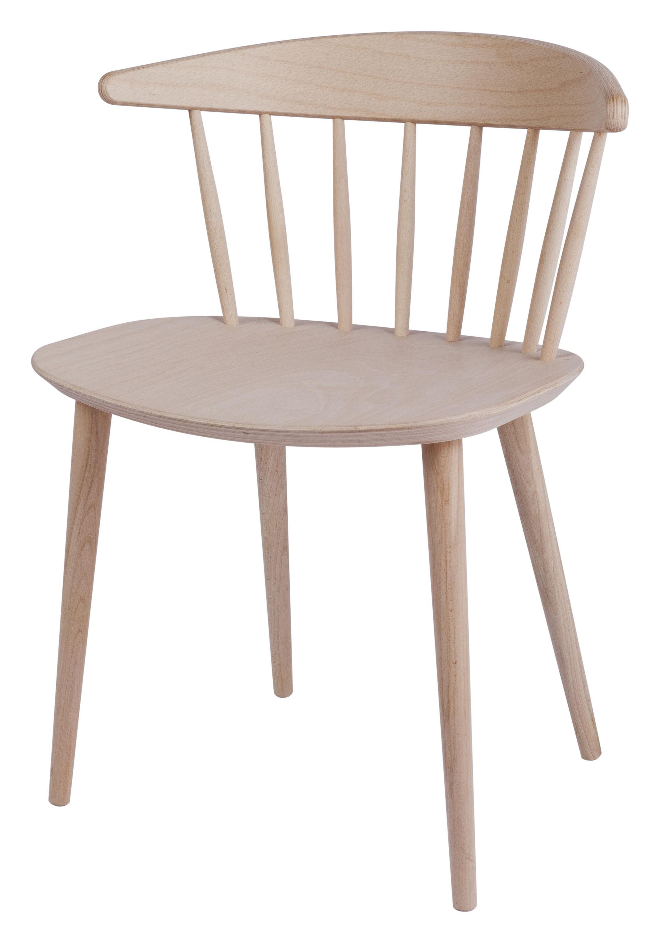 Möbel - Stühle  - J104 Stuhl - Hay - Holz hell - massive Buche