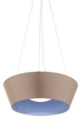 Suspension Reverse LED / Ø 60 cm - Modoluce bleu,taupe en tissu