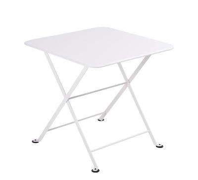 Table basse Tom Pouce / 50 x 50 cm - Fermob blanc coton en métal