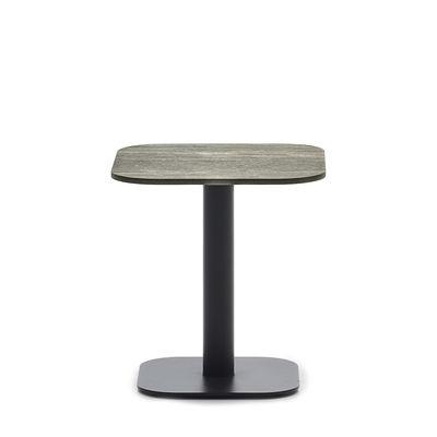Mobilier - Tables basses - Table d'appoint Kodo / 41 x 41 cm - Céramique - Vincent Sheppard - Céramique beige / Gris Fossile - Aluminium thermolaqué, Céramique