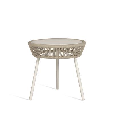 Mobilier - Tables basses - Table d'appoint Loop Rope / Cordage polyéthylène tissé main - Vincent Sheppard - Beige - Aluminium thermolaqué, Corde polypropylène