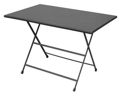 Table pliante Arc en Ciel / 110 x 70 cm - Emu gris en métal