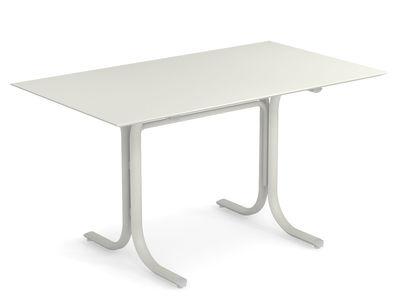 Table rectangulaire System / 80 x 140 cm - Emu blanc en métal